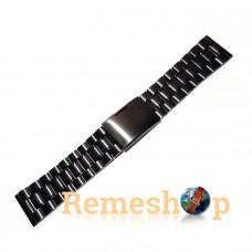 Браслет стальной Slava® 3791 черный 22 мм