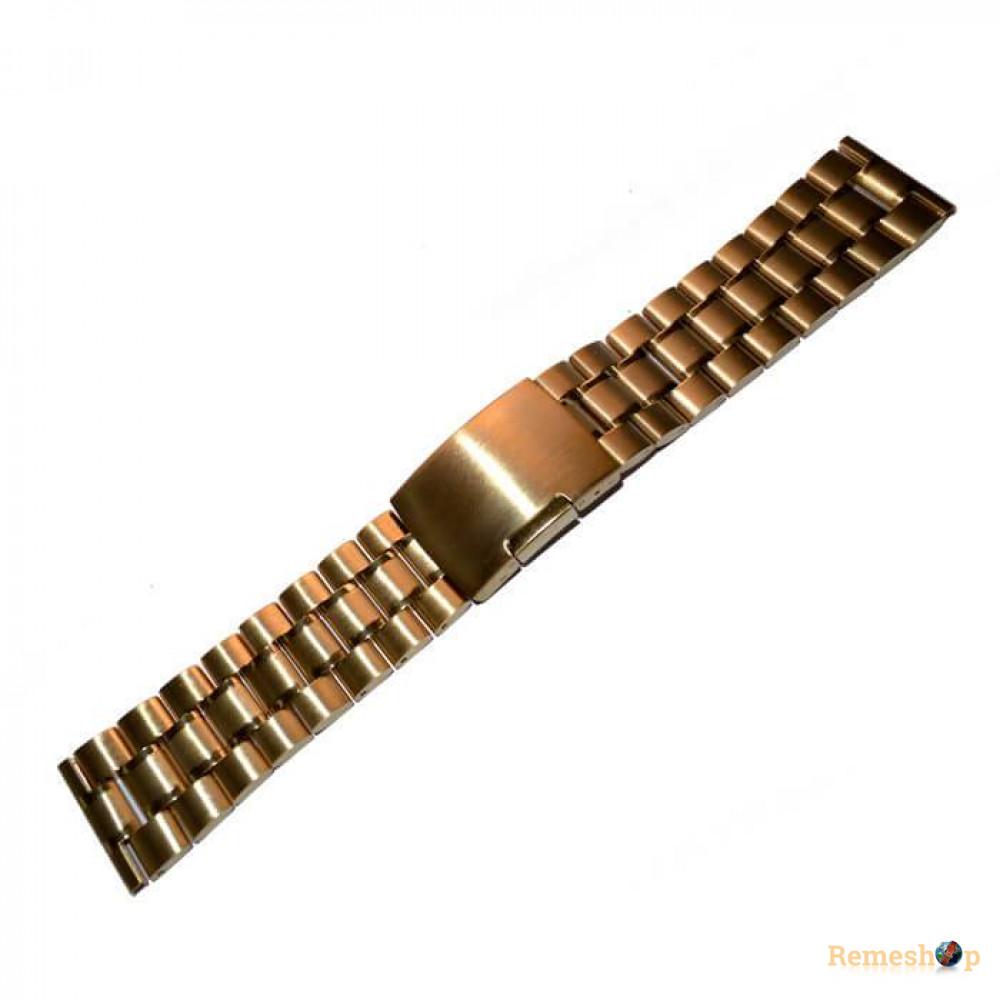 Браслет сталевий Slava® 3793 << ЗОЛОТО >> 20 мм
