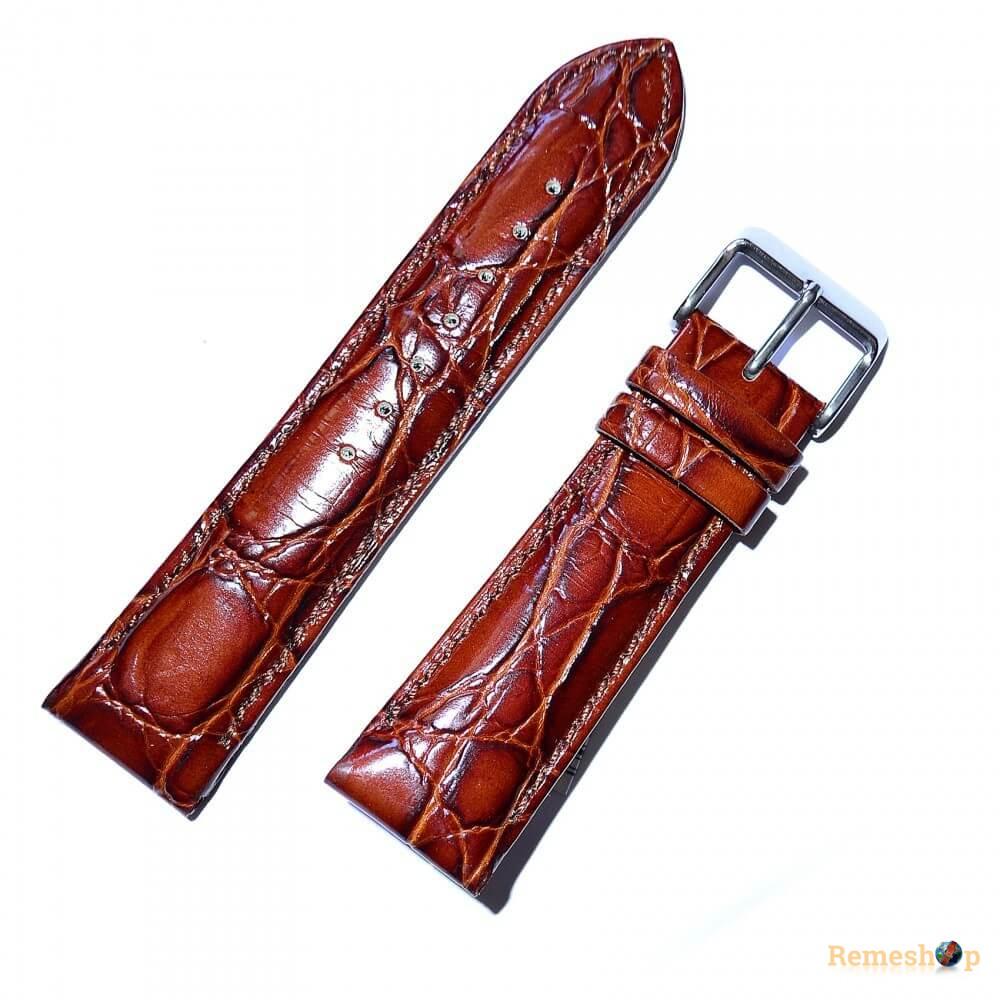 Ремешок кожаный BANDCO 179 коричневый светлый 18 мм
