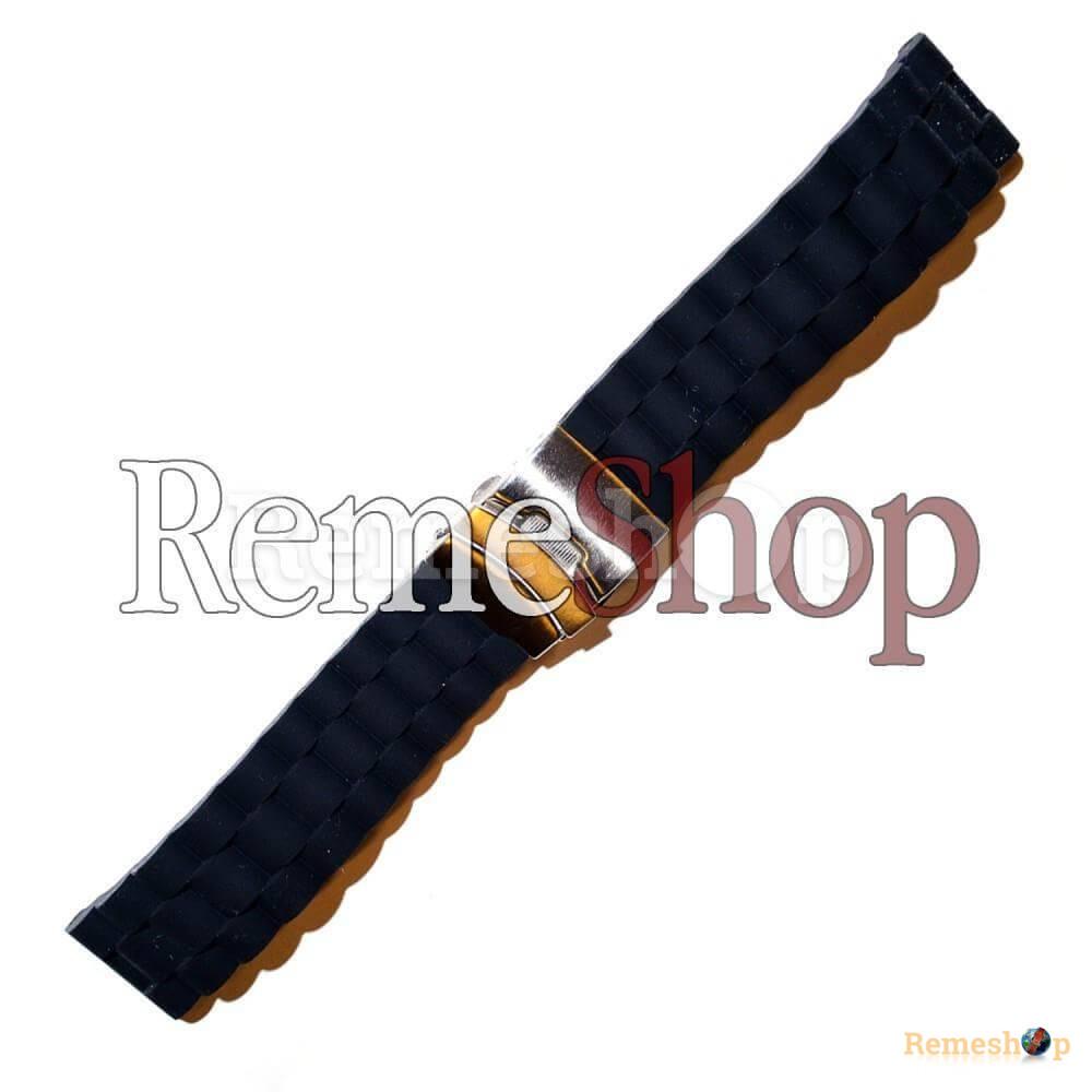 Ремешок каучуковый SPORT 2177 черный 18 мм