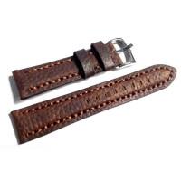 Ремешок кожаный Slava® FLOTAR-91 4303 коричневый темный 20 мм