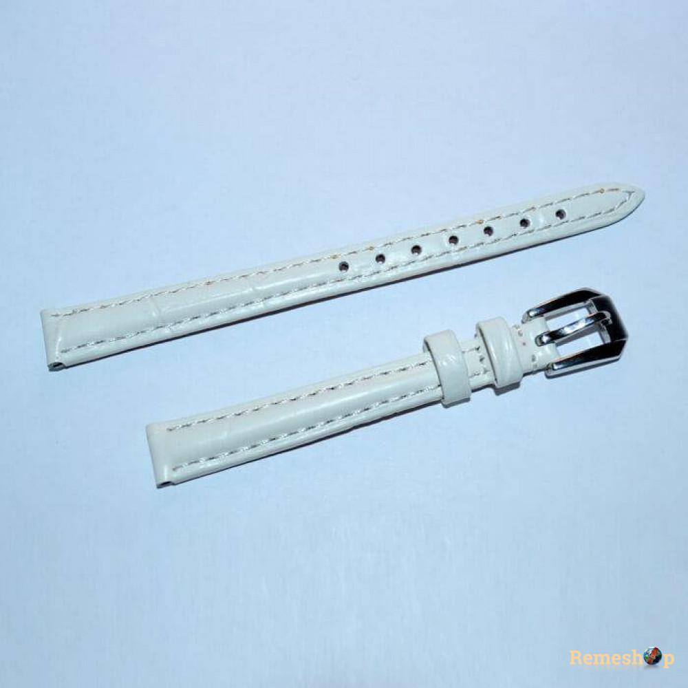 Ремешок кожаный Slava® CF-8601LT бежевый 10 мм