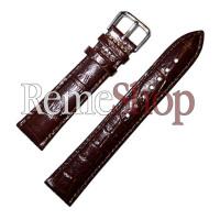 Ремешок кожаный YUAN GUANG 1279 коричневый 18 мм