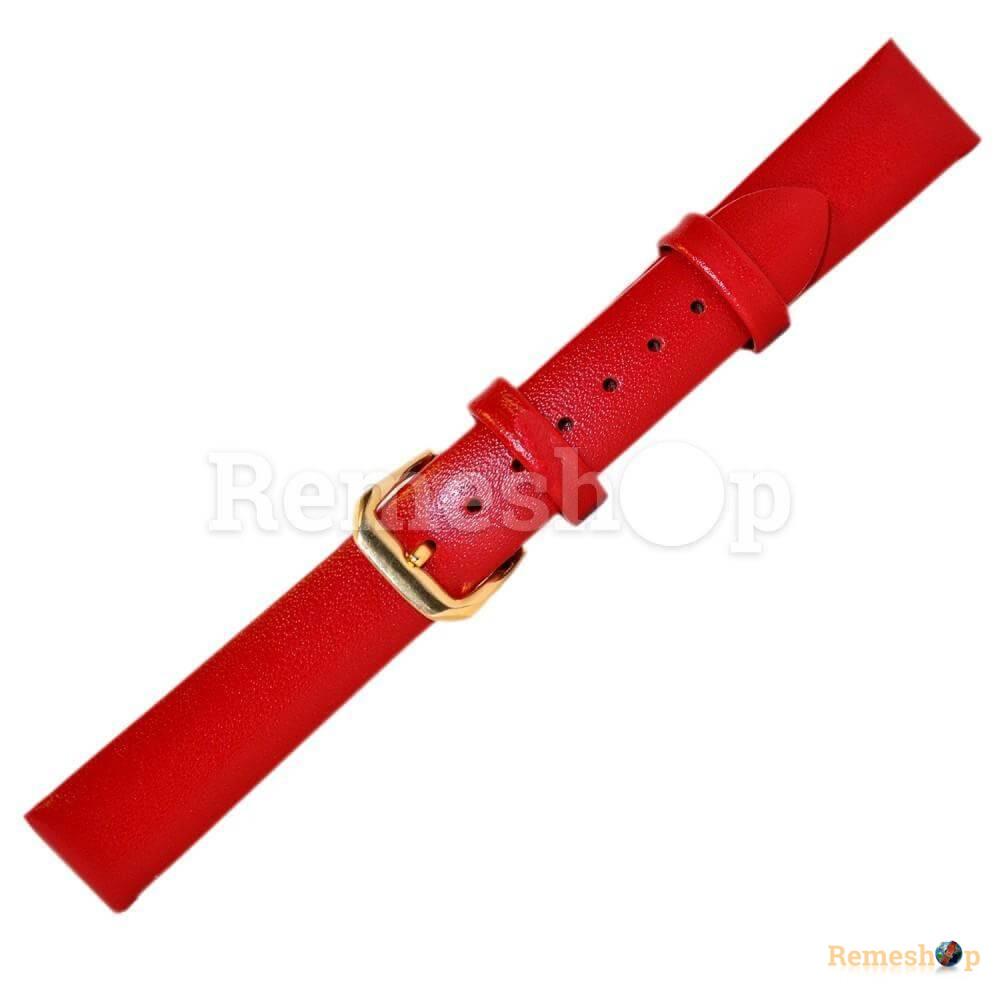 Ремешок кожаный Slava® 3055 красный 20 мм