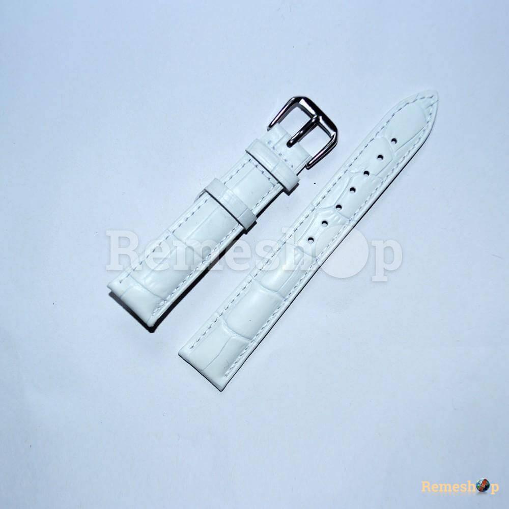 Ремешок кожаный AONO SAN 8801 0104 белый 16 мм