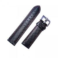 Ремешок кожаный CHERMOND 1291 черный 20 мм