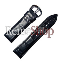 Ремешок кожаный OMEGA 905 черный 18 мм