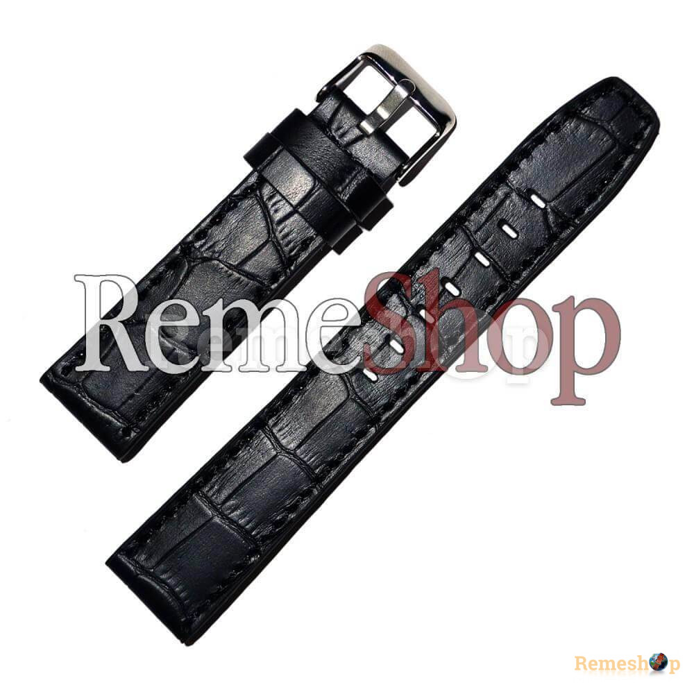 Ремешок кожаный CHERMOND 1301 черный 20 мм