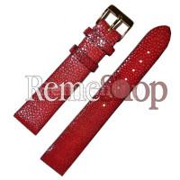 Ремешок кожаный натуральный скат CONDOR SC626 красный 18 мм арт.2123