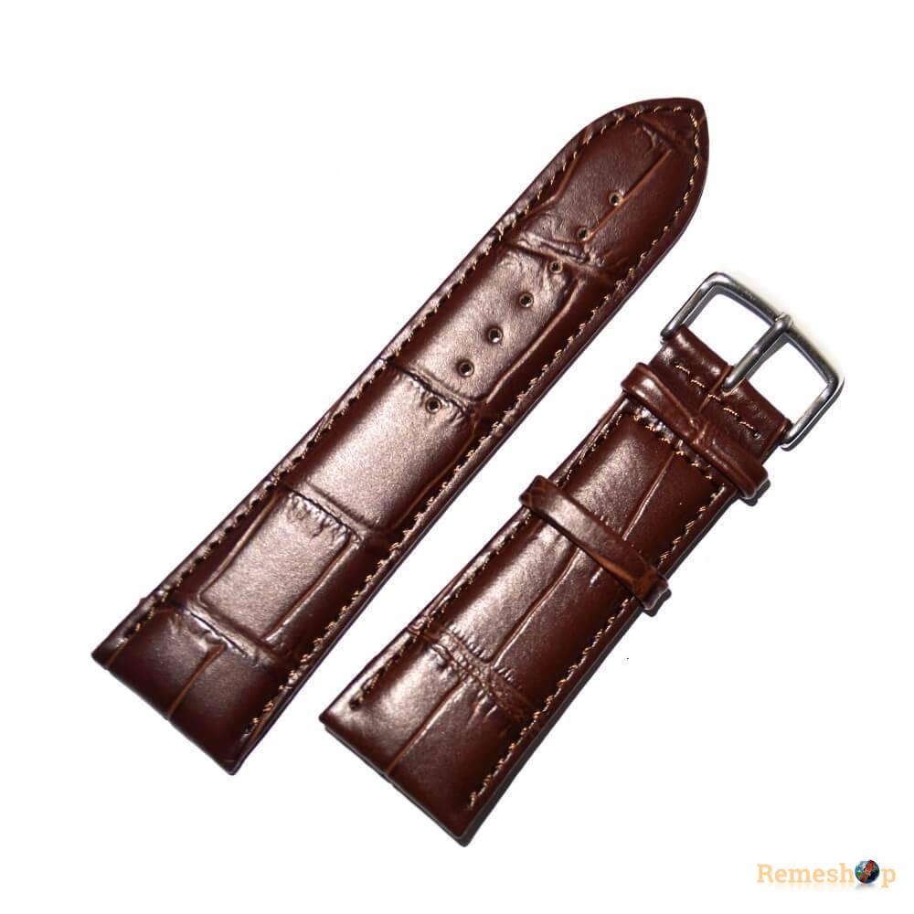 Ремешок кожаный Slava® SLAF 8256 3838 коричневый темный 12 мм