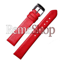 Ремешок кожаный CHERMOND 2526 красный 18 мм