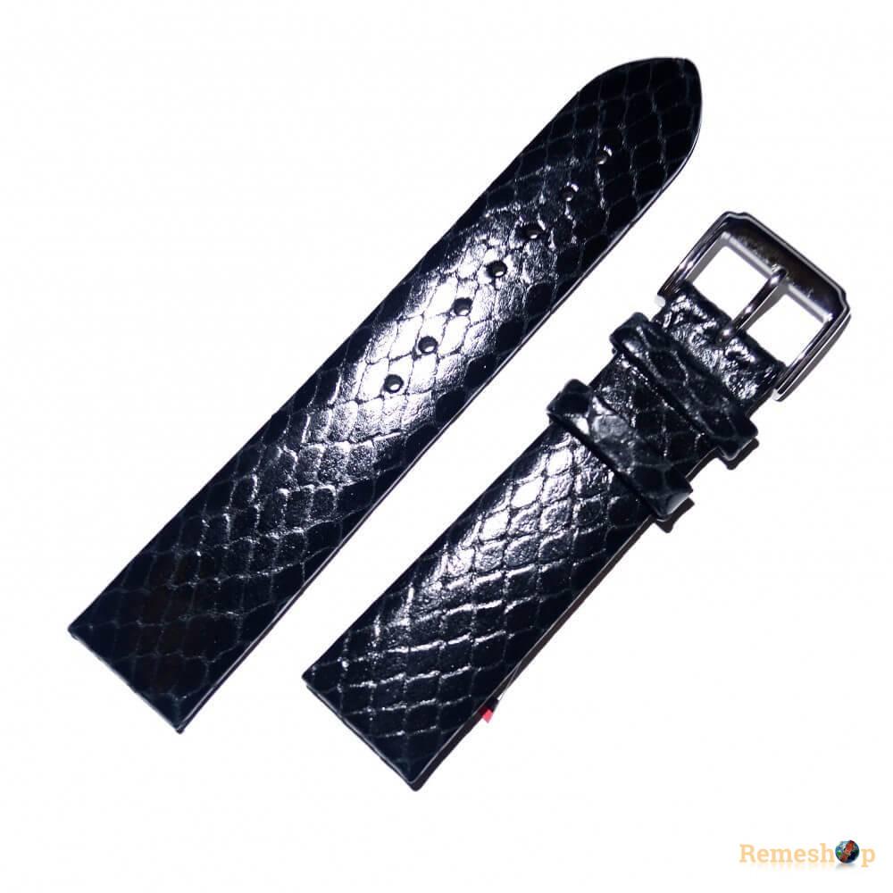 Ремешок кожаный STAILER 2670 черный 12 мм