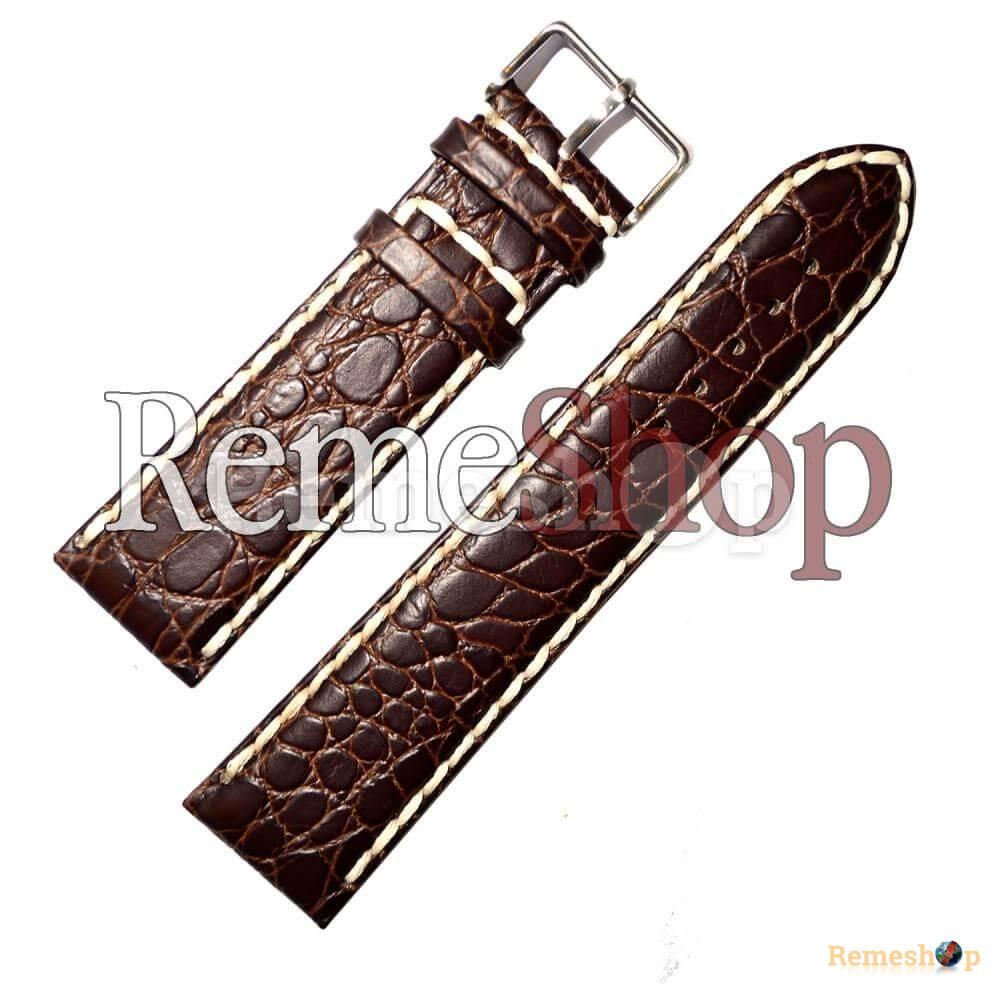 Ремешок кожаный CHERMOND 418 коричневый темный 20 мм