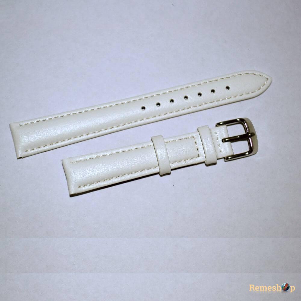 Ремешок кожаный Slava® SLAF 100  белый 12 мм арт.4097