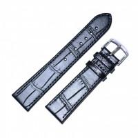 Ремешок кожаный Slava® SLAF 160B 3798 черный 18 мм арт.3798