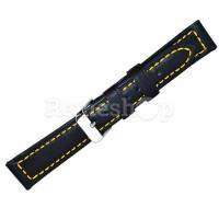 Ремешок кожаный BANDCO 227 черный 18 мм