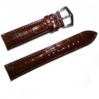 Ремешок кожаный Slava® 3779 коричневый темный 18 мм