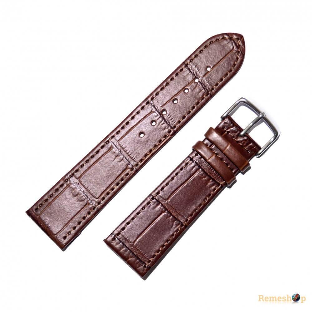 Ремешок кожаный Slava® SLAF 160B 4083 коричневый темный 18 мм