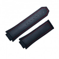 Ремешок каучуковый HUBLOT 6035 черный 19 мм