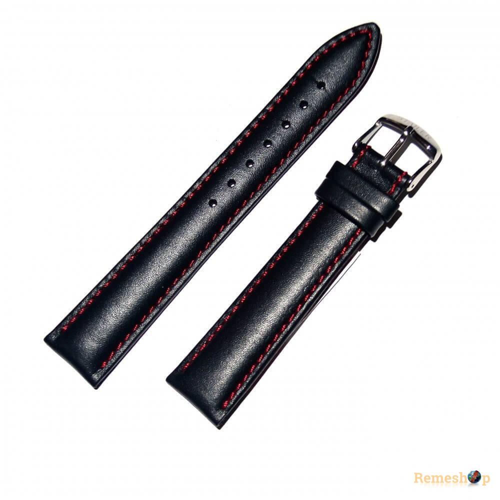 Ремешок кожаный STAILER 2255 черный 18 мм