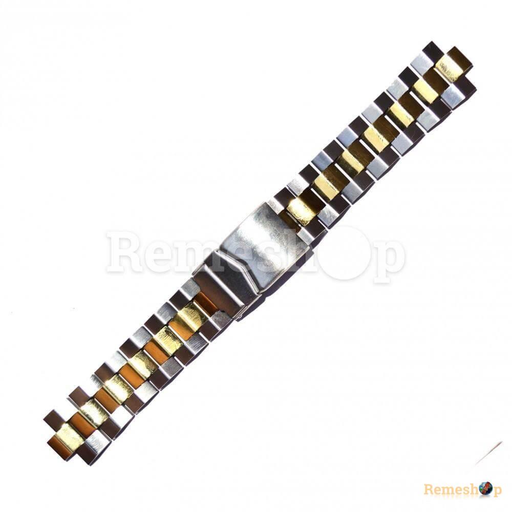 Браслет стальной STAILER 3430 комбинированый 18 мм