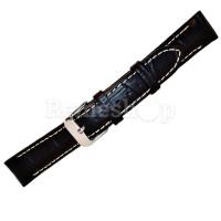 Ремешок кожаный BANDCO 197 черный 18 мм