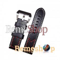Ремешок кожаный BANDA 1820 черный 22 мм