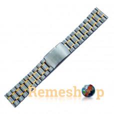 Браслет стальной Slava® 3788 комбинированый 22 мм