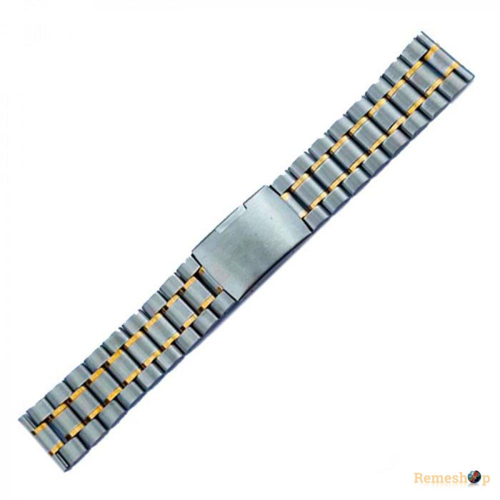 Браслет стальной Slava® 3789 комбинированый 24 мм