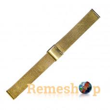 Браслет стальной Slava® 3851 золото 18 мм