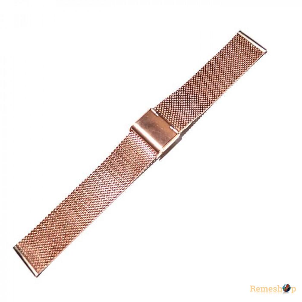 Браслет стальной Slava® 4543  BCV-06 розовое золото 18 мм