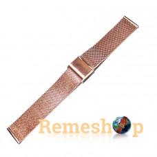 Браслет сталевий Slava® 4543 BCV-06 рожеве золото 18 мм