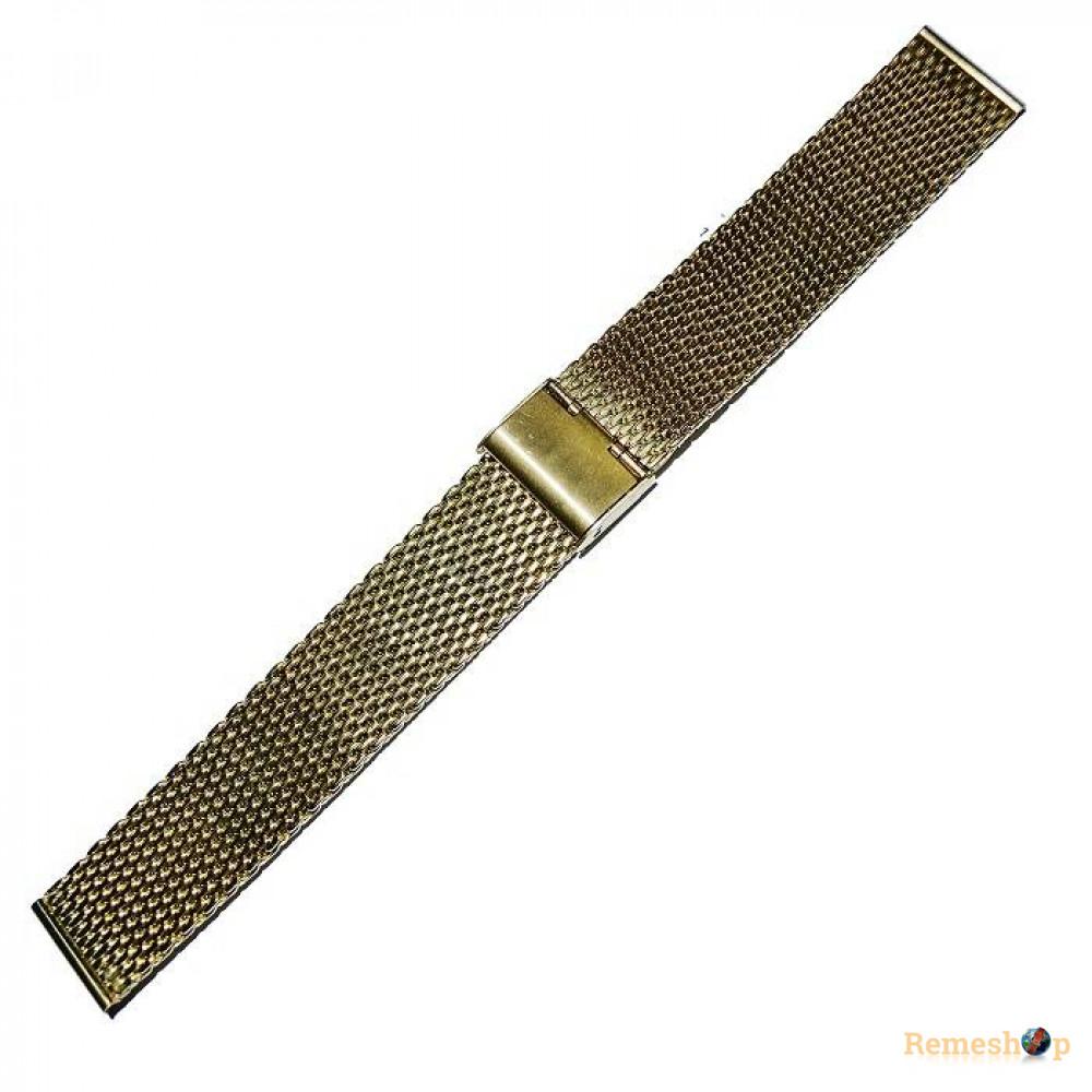 Браслет стальной Slava® 4512 золото 20 мм