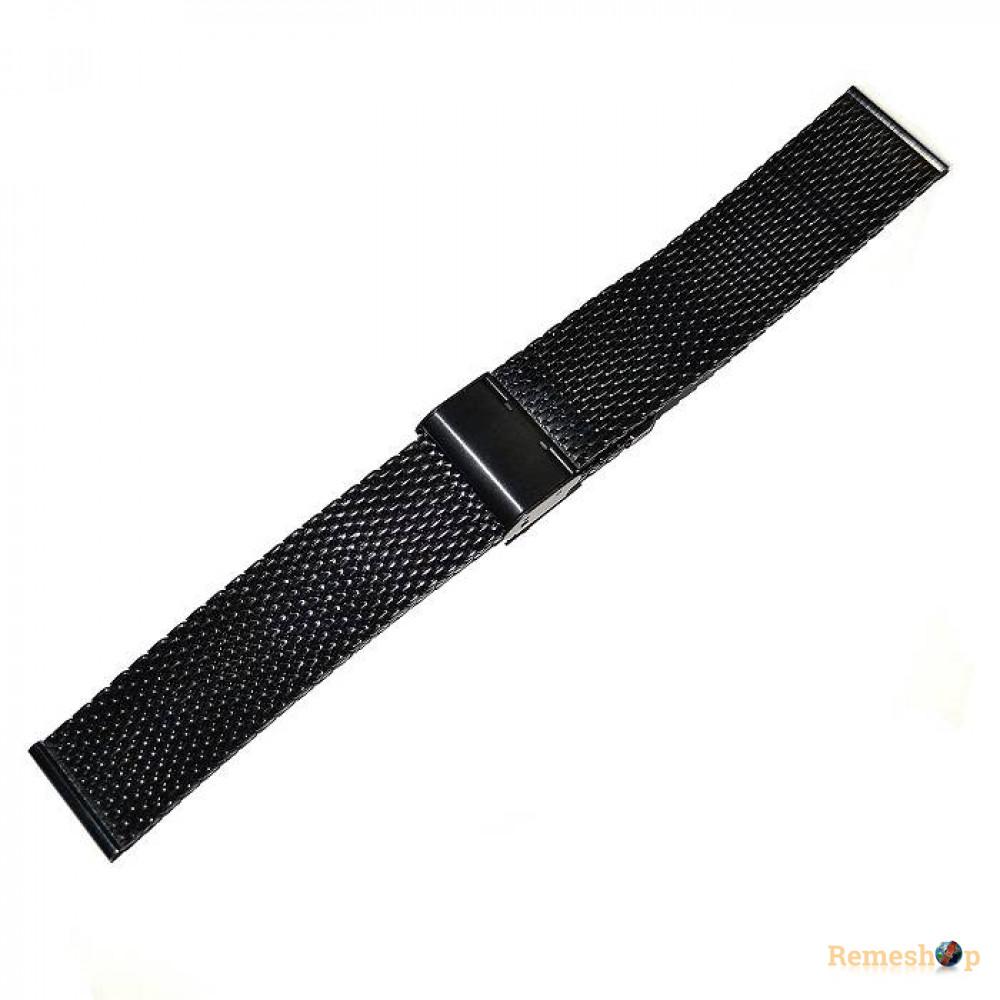 Браслет стальной Slava® 4515 черный 22 мм