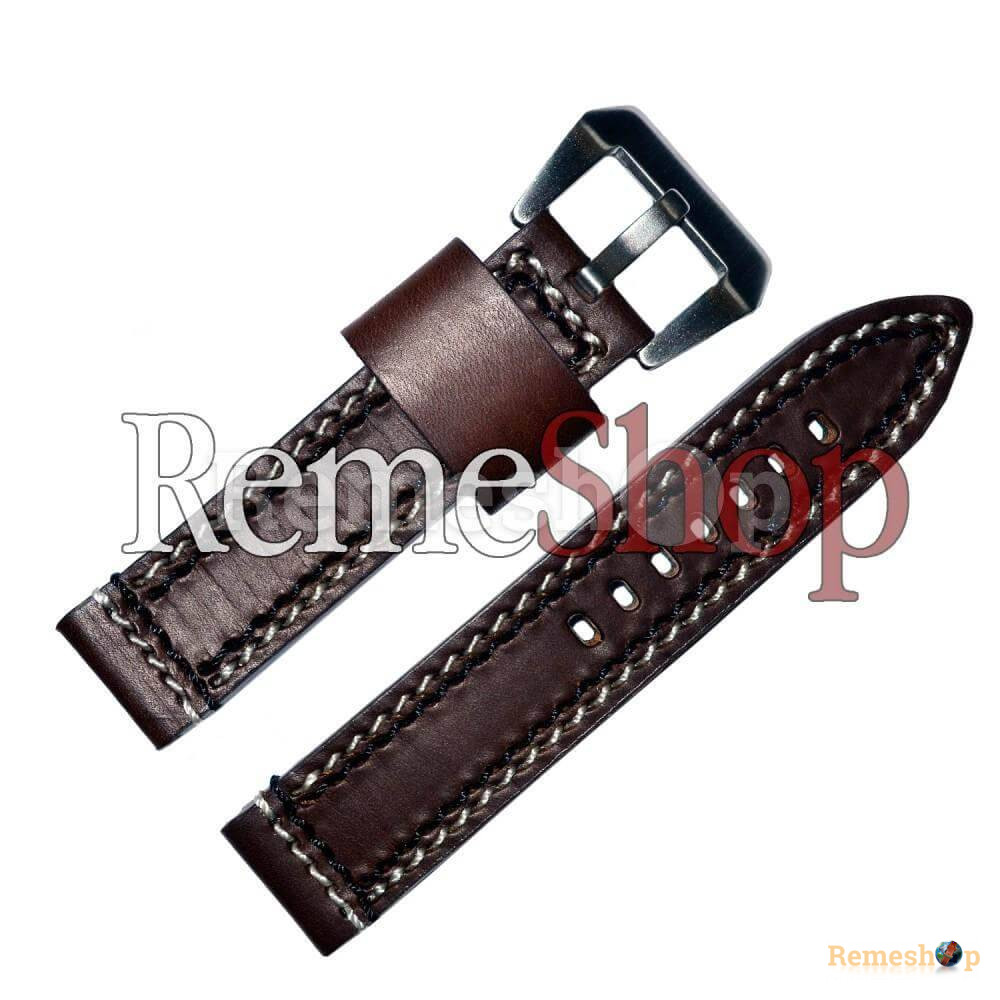 Ремешок кожаный BANDA 1003 коричневый 22 мм