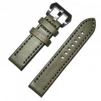 Ремешок кожаный Slava® PANERAI-70 4206 хаки 20 мм