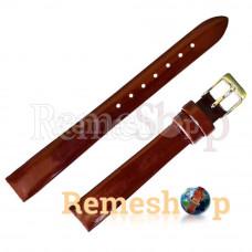 Лаковий ремінець шкіряний Slava® 1737 коричневий темний 12 мм