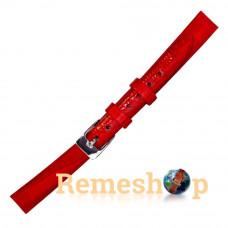 Лаковый ремешок кожаный BANDCO 18 красный 12 мм