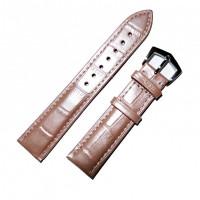 Ремешок кожаный Slava® 3769 розовый светлый 18 мм
