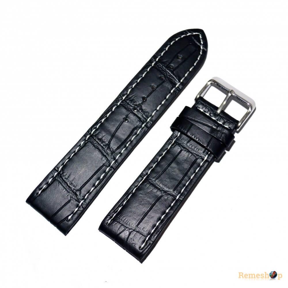 Ремешок кожаный Slava® SLAF L1327BA 4105 черный 20 мм