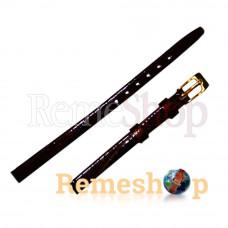 Лаковый ремешок кожаный BANDCO 9 коричневый 06 мм