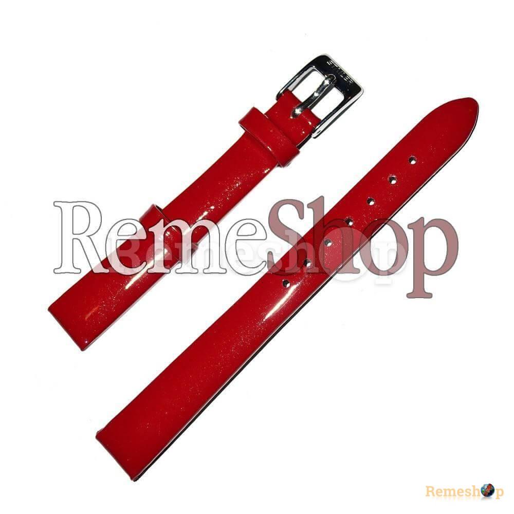 Лаковый ремешок кожаный STAILER 1432 красный 08 мм