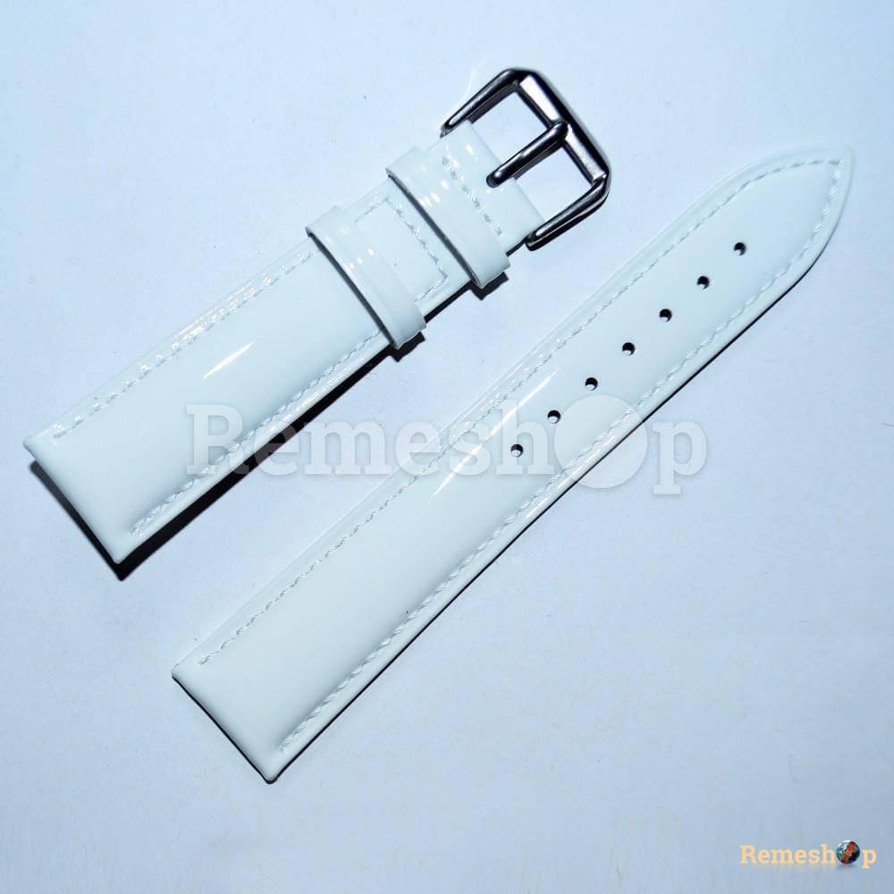 Ремешок кожаный AONO SANL 8807A 3074 белый 12 мм