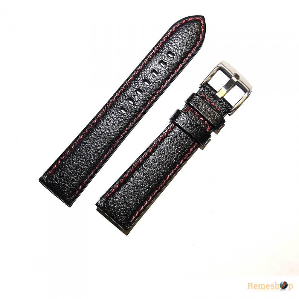 Ремешок кожаный CHERMOND 3871 черный 20 мм