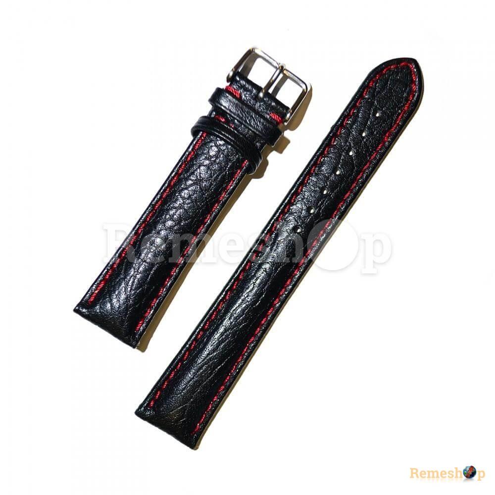 Ремешок кожаный CHERMOND 1351 черный 18 мм