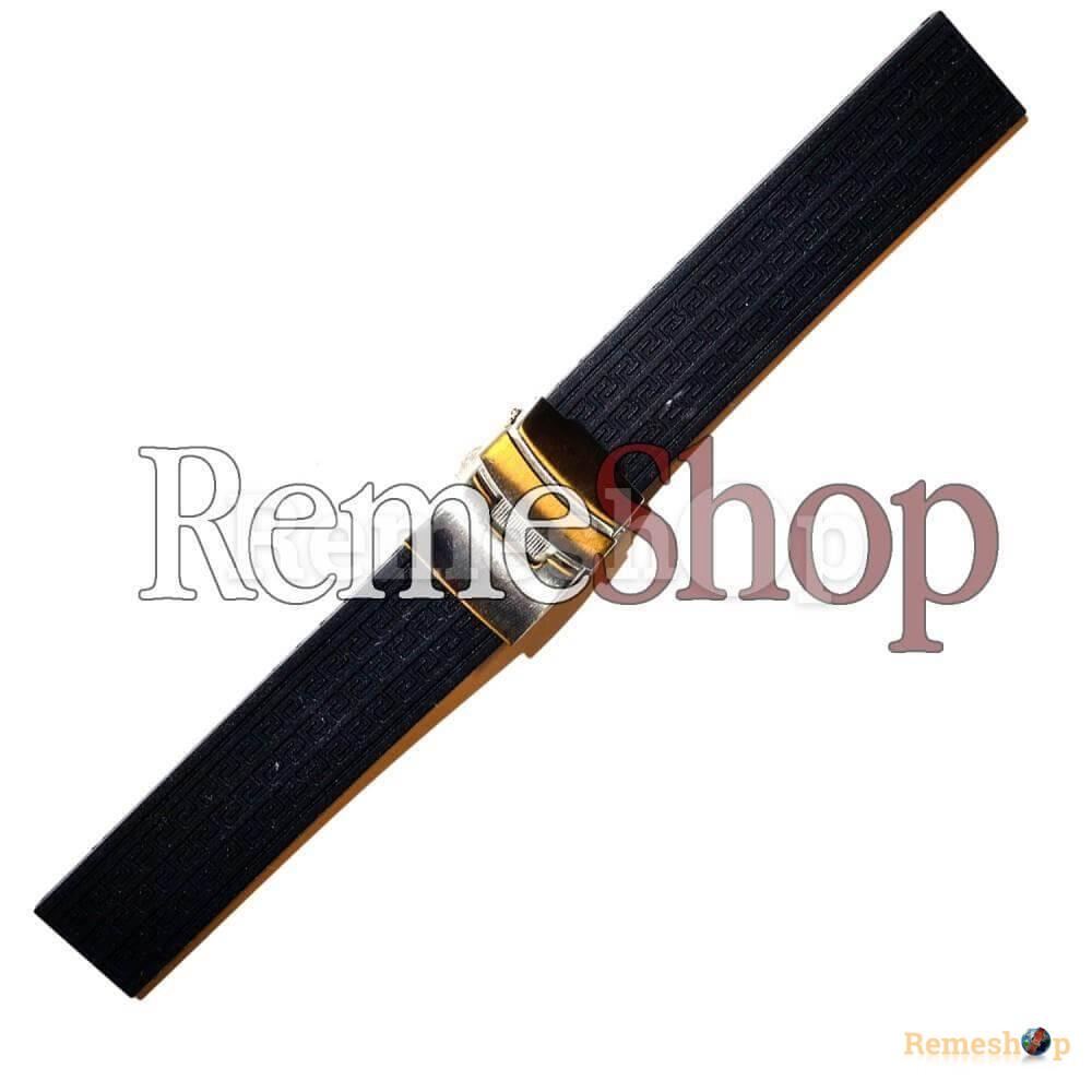 Ремешок каучуковый SPORT 2192 черный 20 мм
