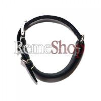Ремешок кожаный BROS 1669 черный 20 мм