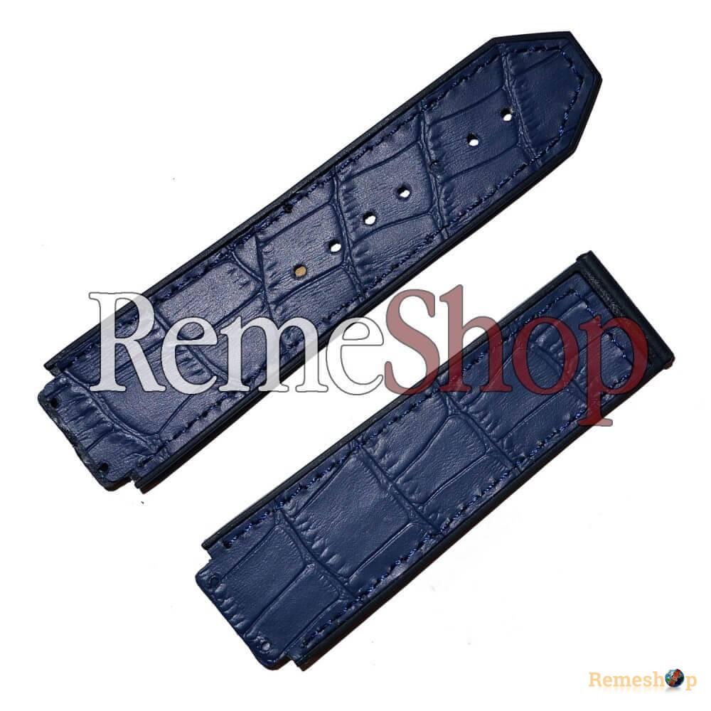 Ремешок комбинированый HUBLOT 2115 серый темный 22 мм