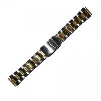 Браслет стальной INOX 3509 комбинированый 20 мм