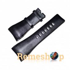 Ремінець шкіряний DIESEL 6026 чорний 32 мм